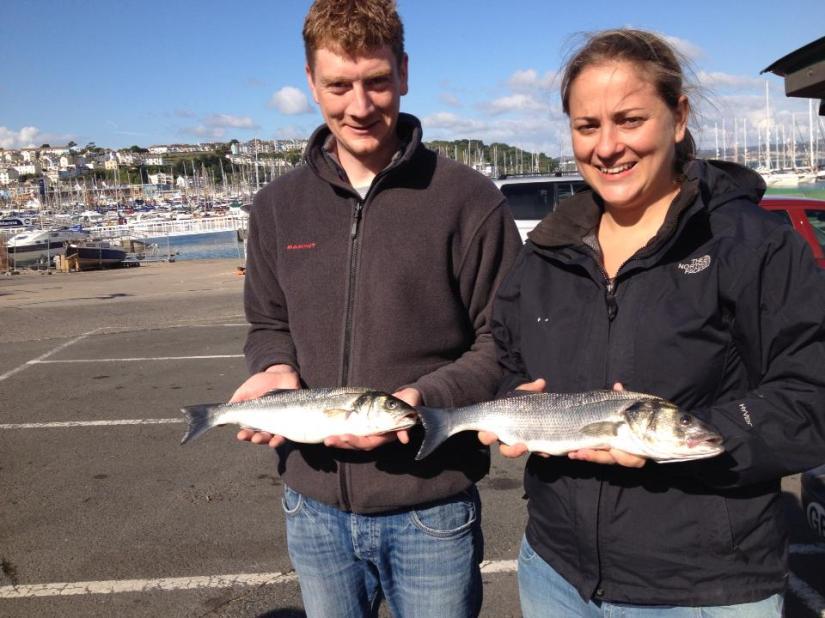 Catching Seabass in Brixham