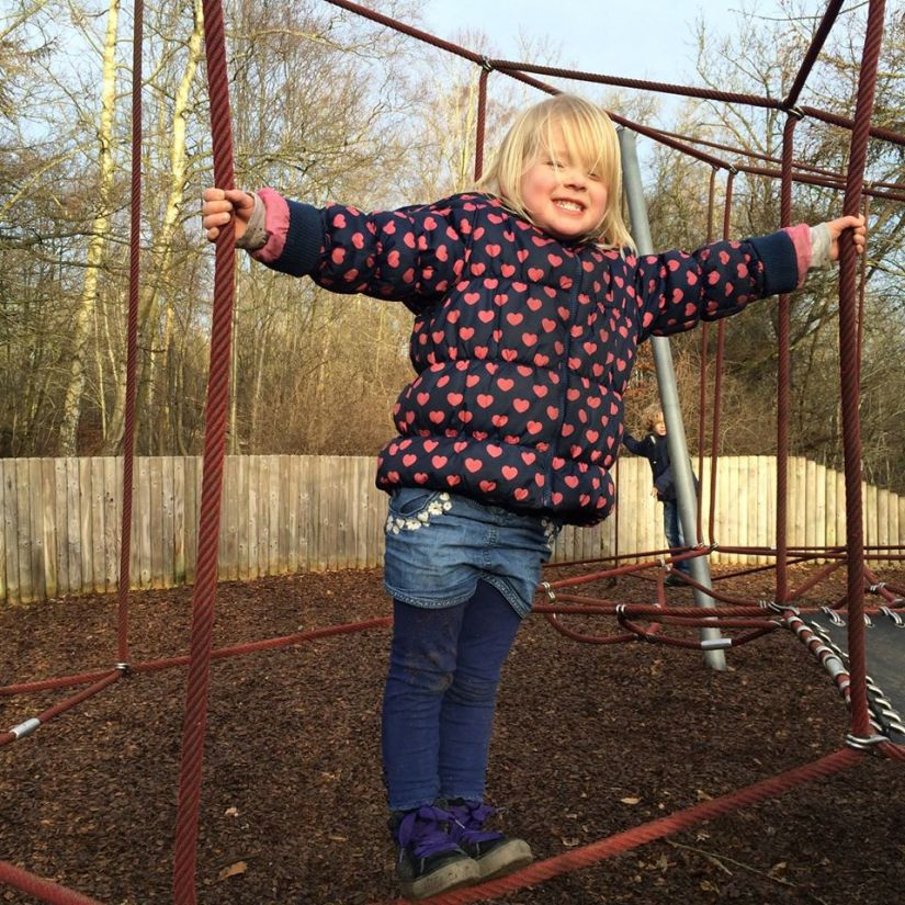Elodie in the Play Park at Vogrie