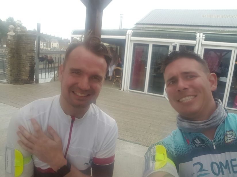 Craig and Peter - London to Paris Challenge