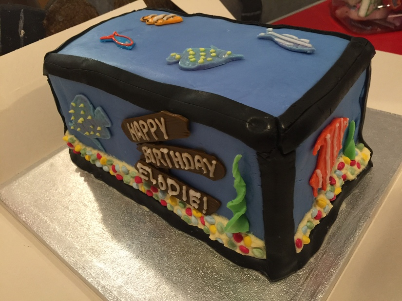 Fish Tank Birthday Cake